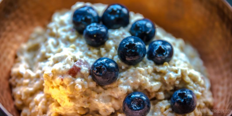 Blueberries and oatmeal.