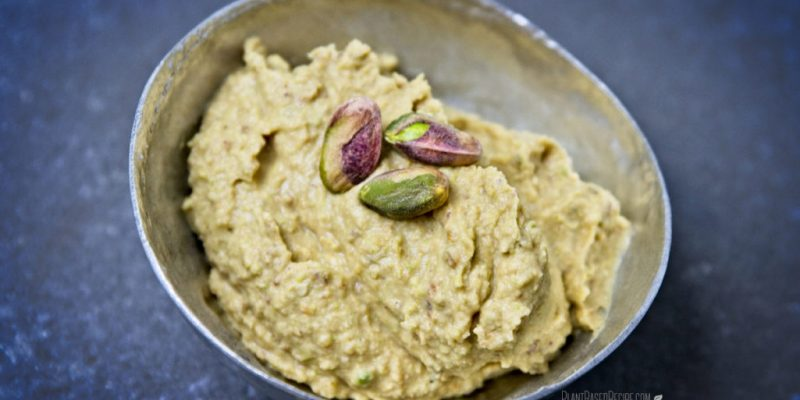 Pure leaf stevia is used to sweeten this sugar free dessert hummus.