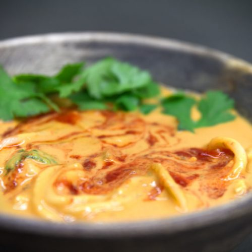 Low fat Spicy Thai Peanut Noodle Soup