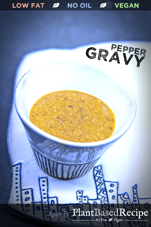 Pepper gravy - vegan recipe.