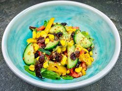 Refreshing Ginger Orange Black Bean and Corn Salad recipe (Vegan, Oil free)