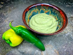 Jalapeno and Tomatillo salad dressing recipe - vegan and oil free