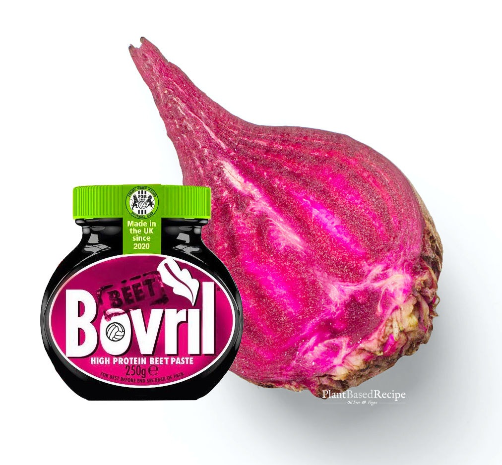 Vegan beet paste by Bovril - image of product with a beet.