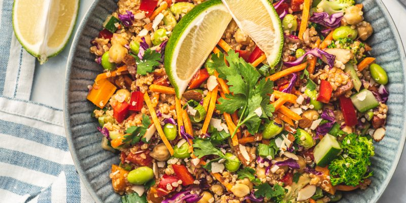 Pad Thai protein salad recipe, photo courtesy of Ashley Madden