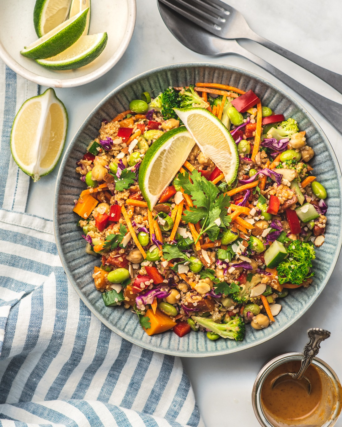 Pad Thai Protein Salad recipe from The Plant-Based Cookbook + Book Review and Giveaway!